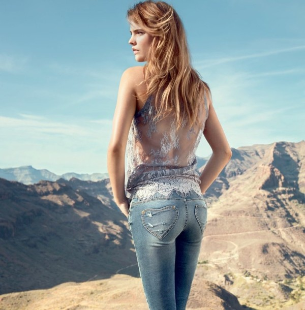 Barbara Palvin, celebrity, fashion, denim