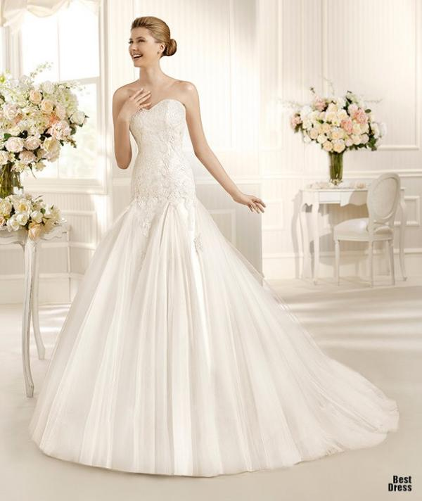 Best designer wedding dress, stylish gown, female, photo
