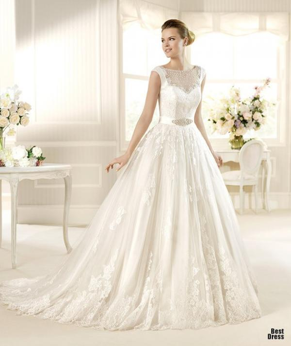 Best designer wedding dress, stylish gown, female, pics