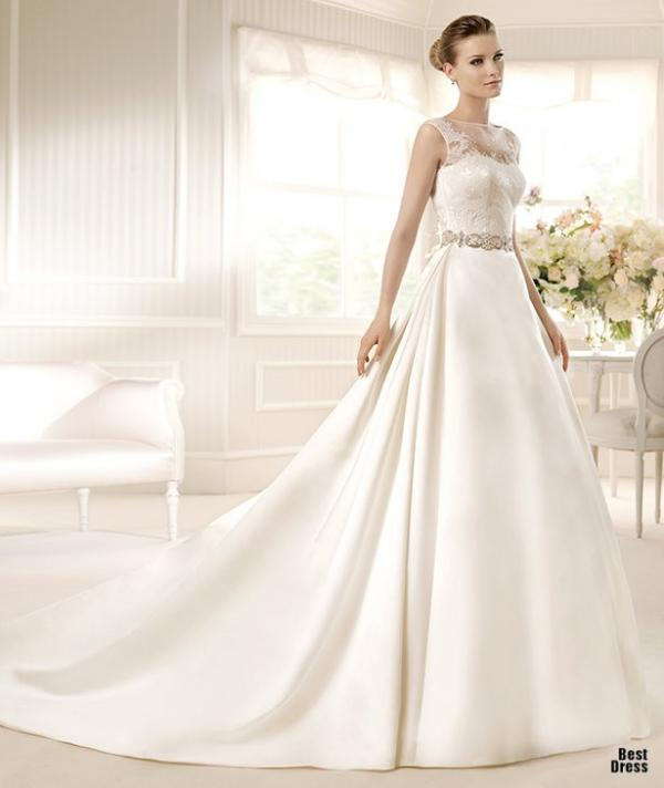 Best designer wedding dress, stylish gown, female