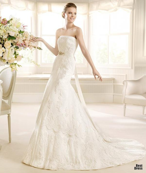 Best designer wedding dress, stylish gown, lady, image