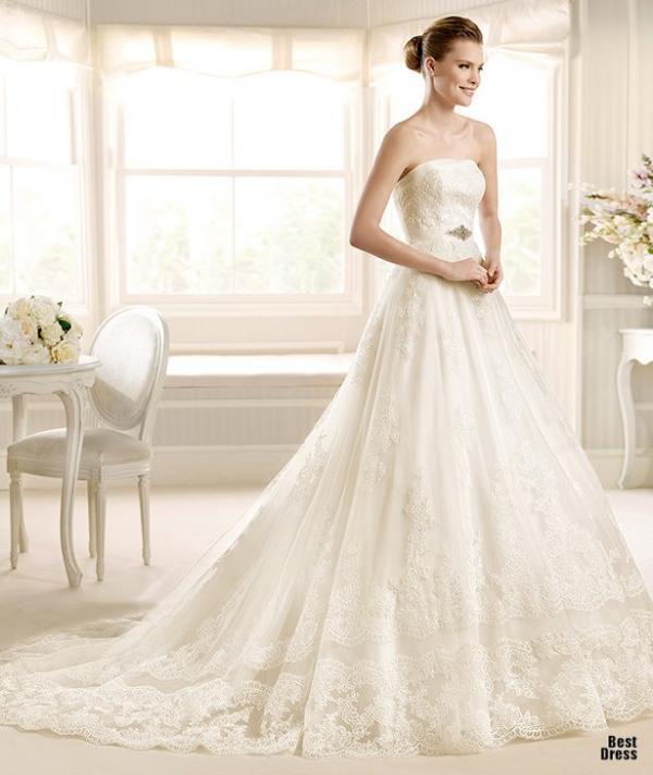 Best designer wedding dress, stylish gown, lady, photo