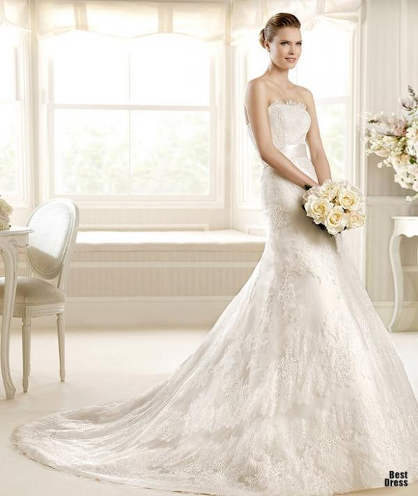 Best designer wedding dress, stylish gown, lady, picture