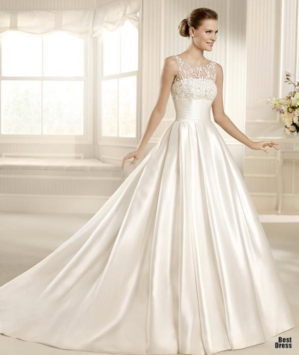 Best designer wedding dress, stylish gown, lady