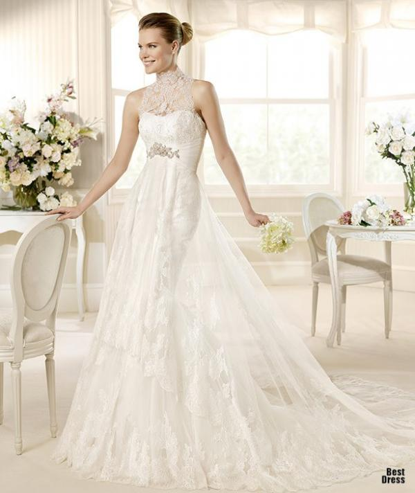 Best designer wedding dress, stylish gown, woman, image