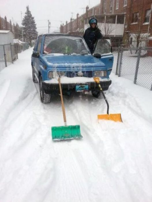 Cool, car, pictures, humor, winter, snow