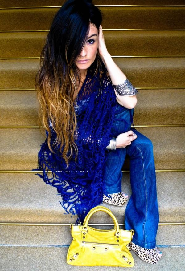 Fashionable women clothes, blue, outfits, female, image