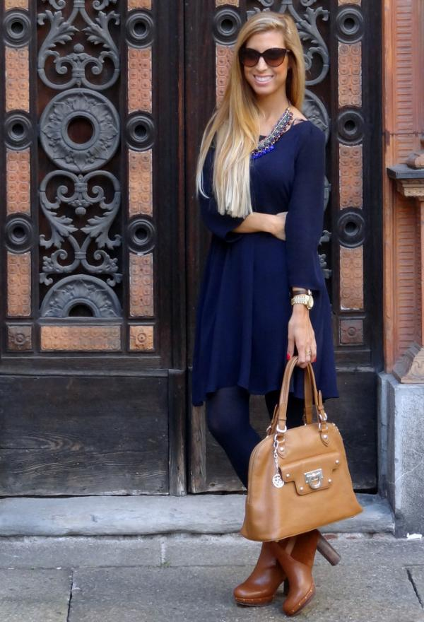 Fashionable women clothes, blue, outfits, lady, image