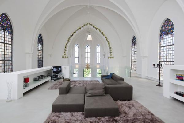 House with religious overtones, interior, design