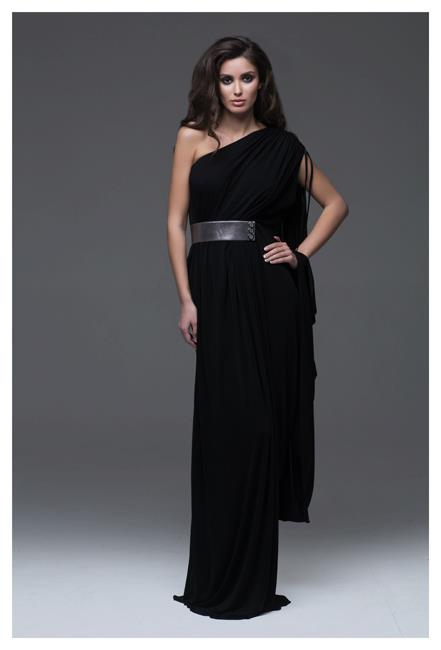 Inspirational evening dress, outfit, female, black