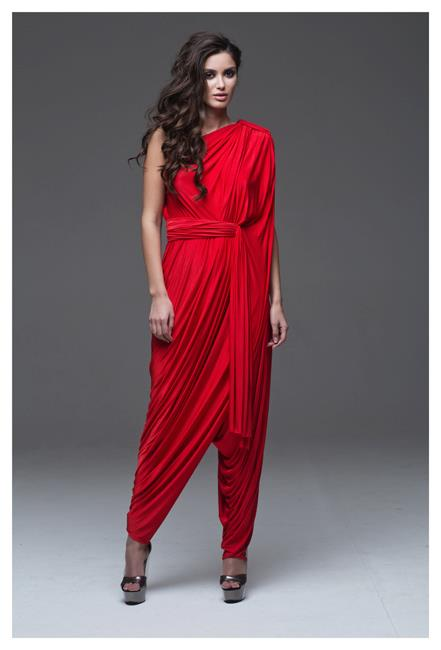 Inspirational evening dress, outfit, female, red