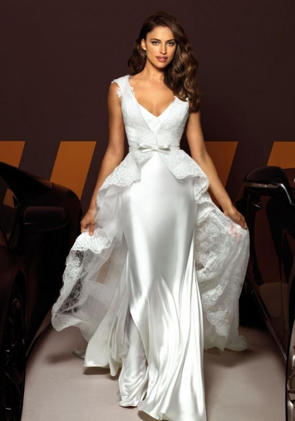 Model Irina Shayk, celebrity, gown, fashion
