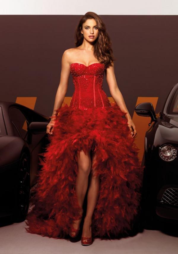 Model Irina Shayk, celebrity, gown