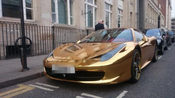 Super car, ferrari, gold, sport car, photo