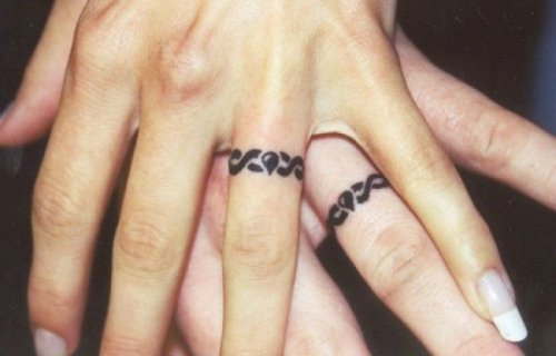Tattoos instead of wedding rings, ideas, design