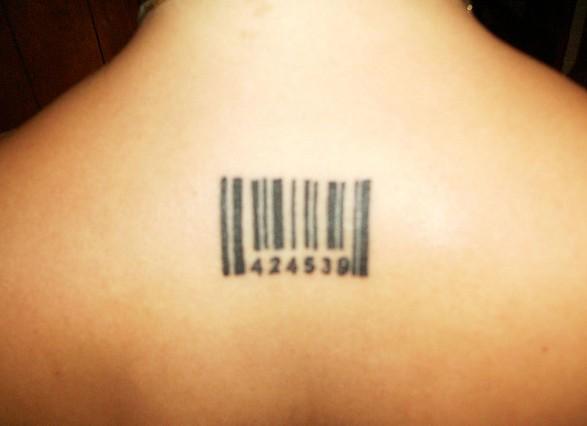 Barcode tattoo 3