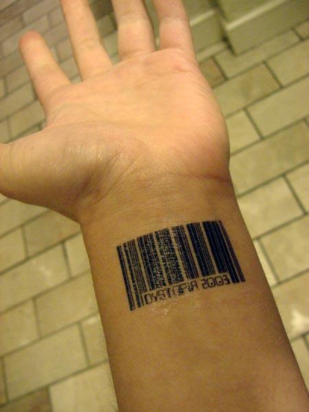 Barcode tattoo 4