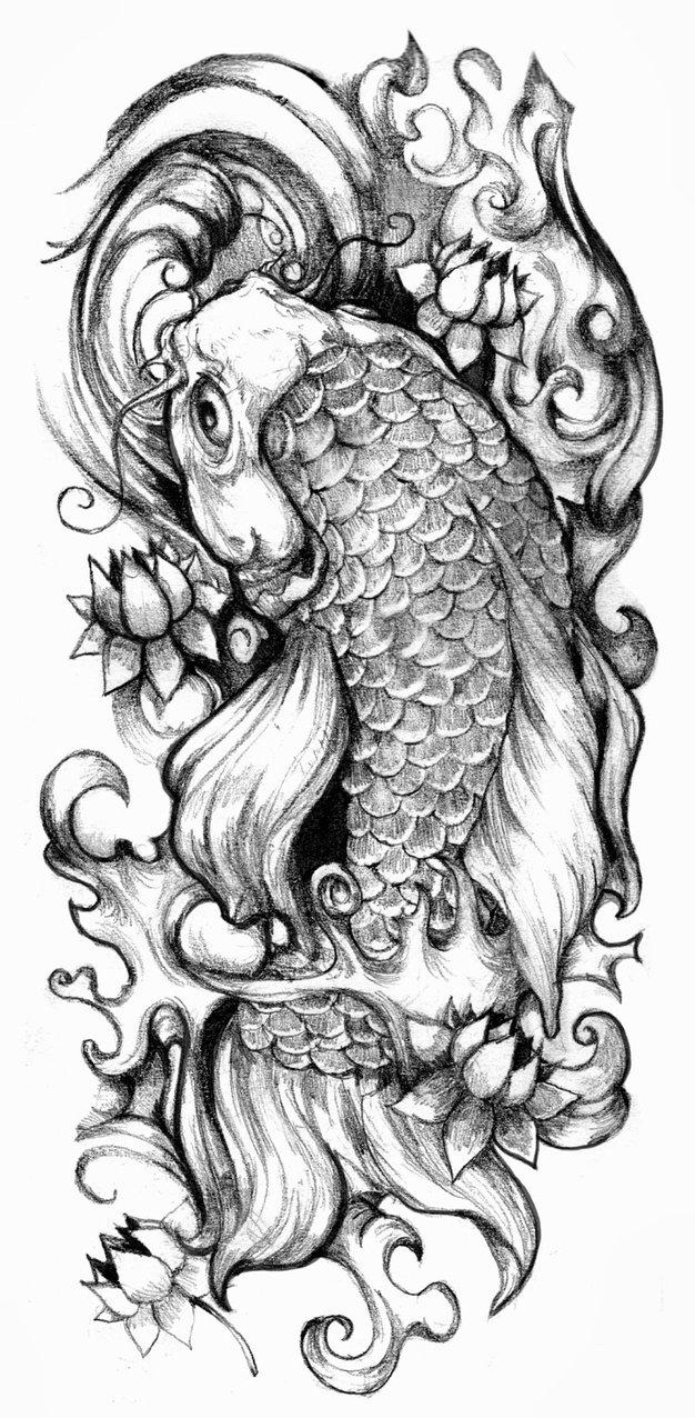 Koi tattoo designs 5