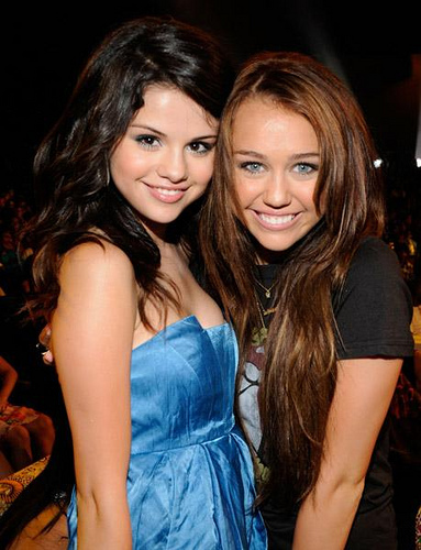 Selena Gomez and Miley Cyrus 1