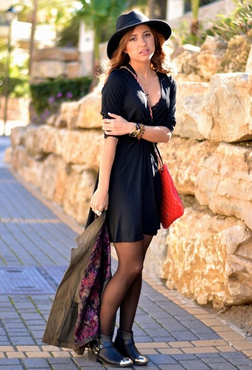 Amazing black dress, fashion, outfits, clothes, lady, photo