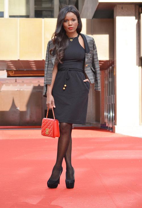 Black stylish dress, fashion, outfits, model, female, photoshoot