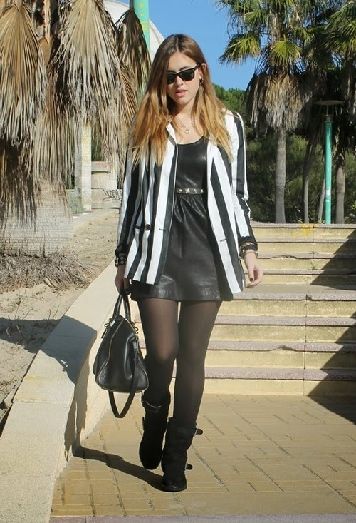 Black stylish dress, fashion, outfits, model, female