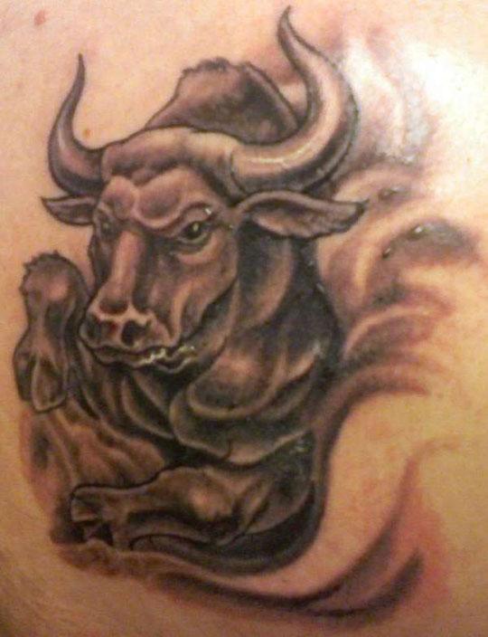 bull tattoo 1
