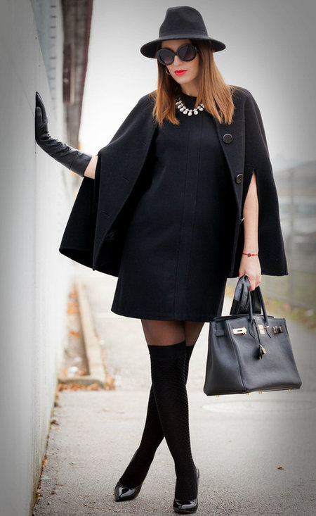 Fashionable black dress, fashion, outfits, female, image