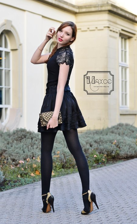 Fashionable black dress, fashion, outfits, female, photoshoot