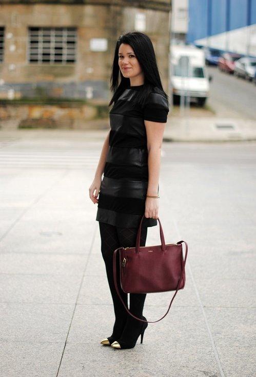 Fashionable black dress, fashion, outfits, lady, image