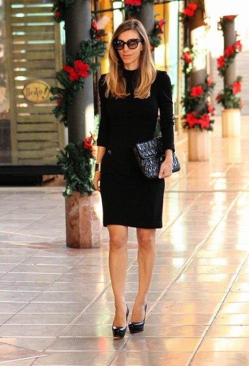Fashionable black dress, fashion, outfits, lady, pics
