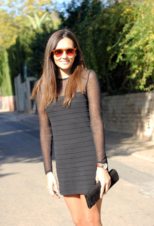 Fashionable black dress, fashion, outfits, woman, pics