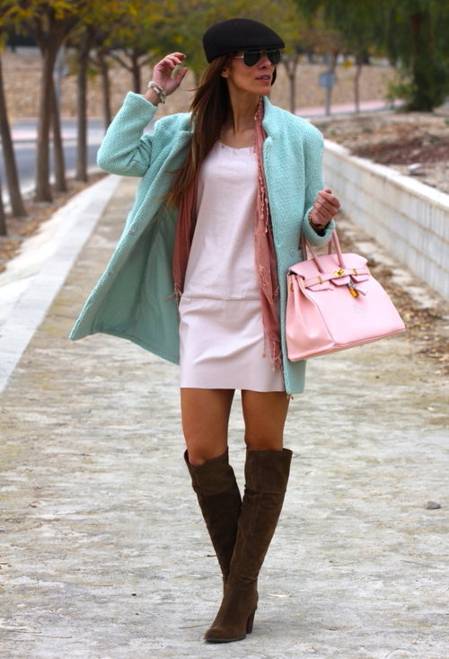 Fashionable street style, outfits, hat, woman, picture