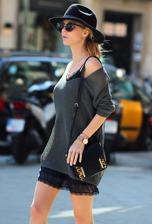 Fashionable street style, outfits, hat, woman