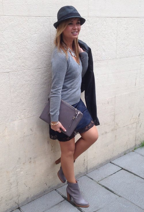 Fashionable street style, outfits, trendy hat, girl, photography