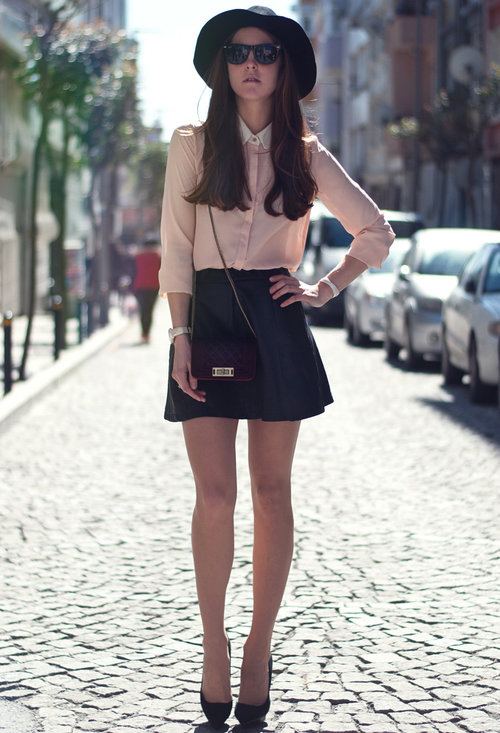Fashionable street style, outfits, trendy hat, woman