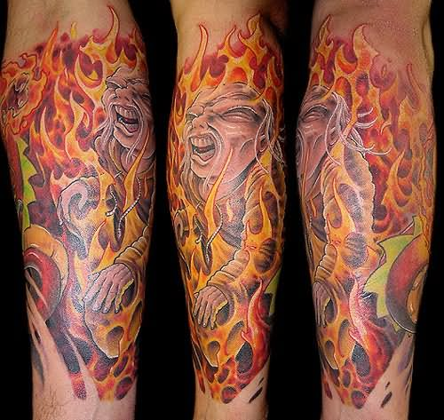 flame tattoo 4