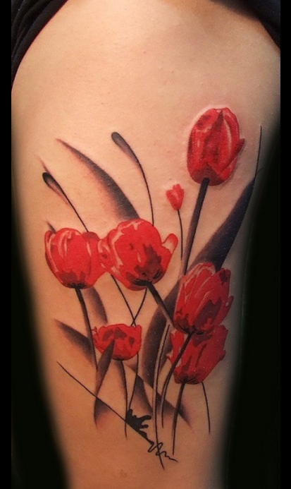 flowers tattoo 2