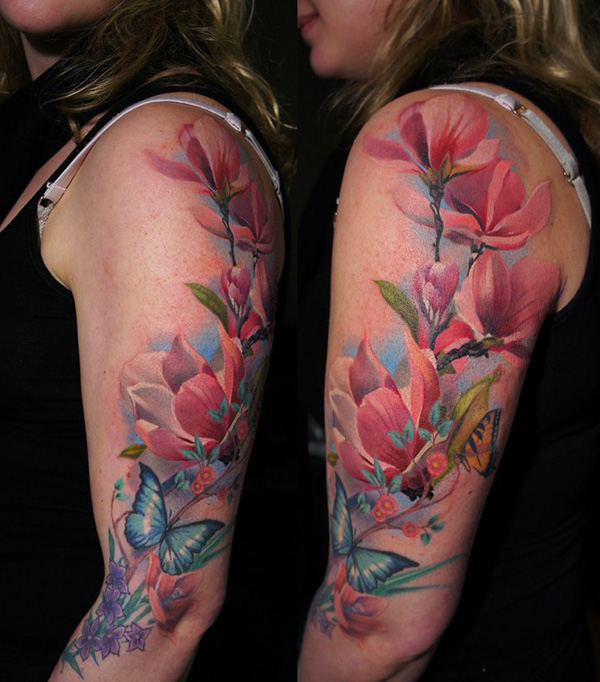 flowers tattoo 6