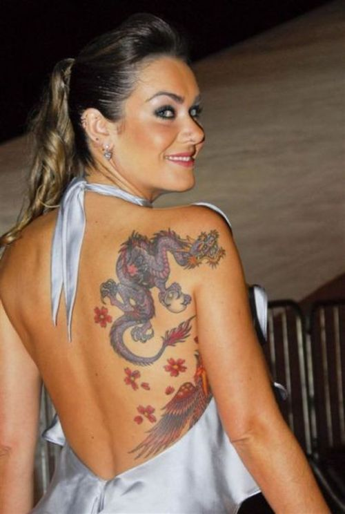girl dragon tattoo 1