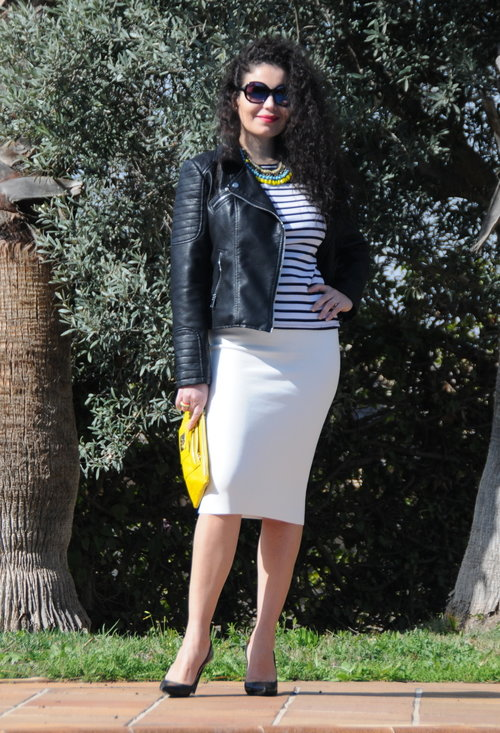 Model, fashion, street style, pencil skirt, woman, photography