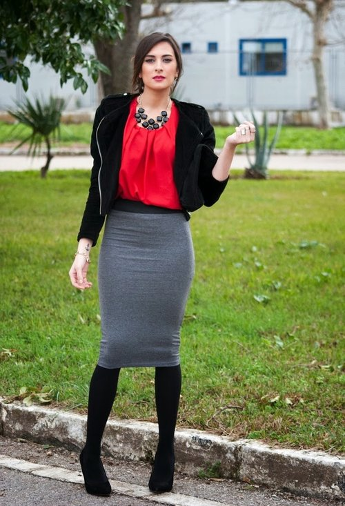 Model, fashion, street style, pencil skirt, woman, photoshoot