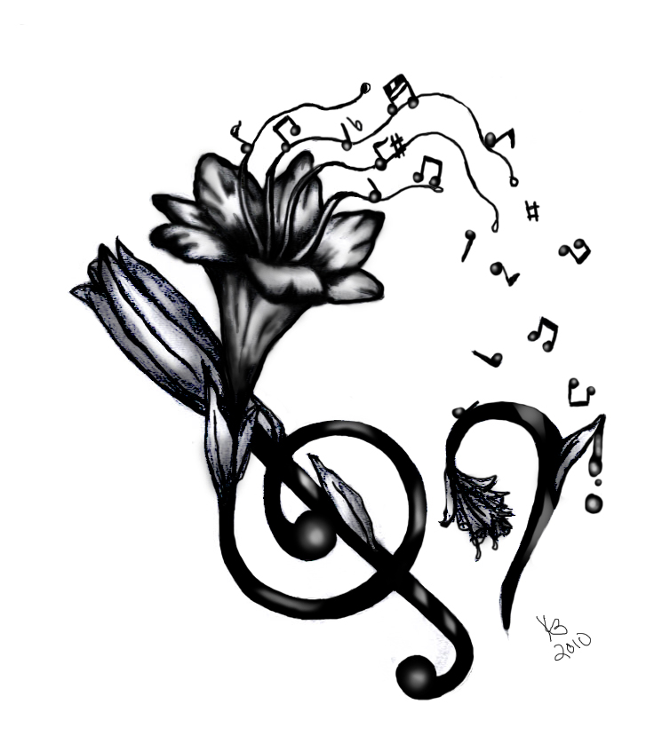 music tattoo designs 1