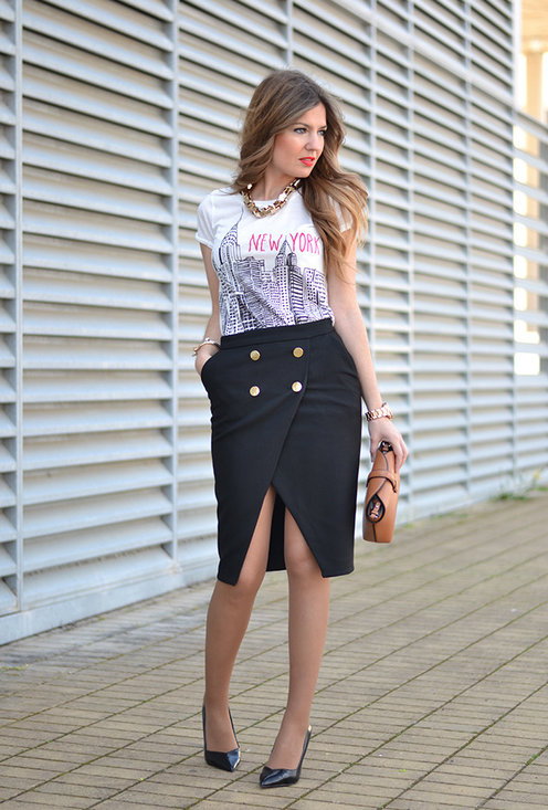Pencil skirt, fashion, style, outfits, girl, image