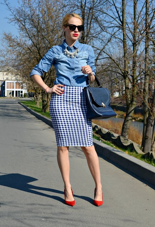 Pencil skirt, fashion, style, outfits, girl, pics