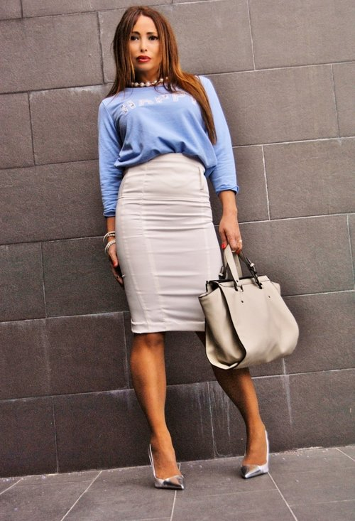 Pencil skirt, fashion, style, outfits, girl, picture