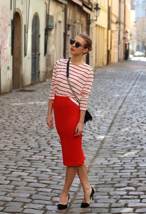 Pencil skirt, fashion, style, outfits, lady, picture