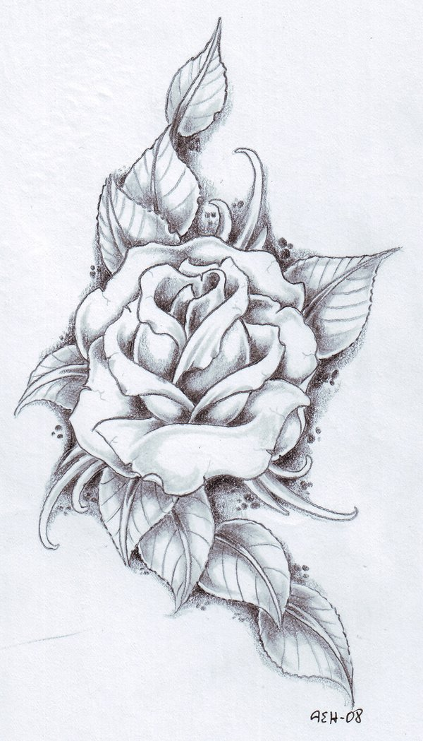 rose tattoo designs 1