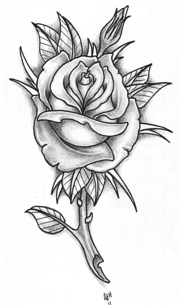 rose tattoo designs 3