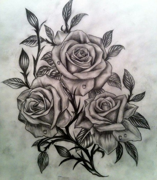 rose tattoo designs 4